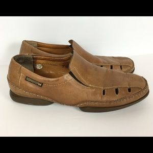 Mephisto Mens 9 Cool Air Loafers Brown Cutouts